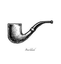 Tobacco pipes bent billiard vector