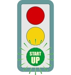 Traffic lights symbol Flashing green vector