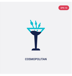 two color cosmopolitan icon from drinks concept vector image