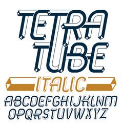 Upper case modern alphabet letters set artistic vector