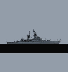 us navy leahy class guided missile cruiser vector image