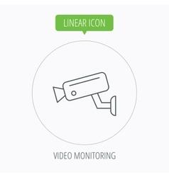 Video monitoring icon Camera cctv sign vector