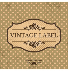 Vintage Label Design with Retro Background vector