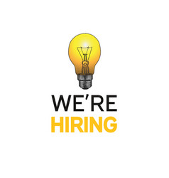 We are hiring poster design concept with light vector