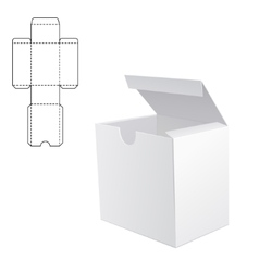 White box Mock up 1 vector image