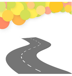Winding road on a white background vector