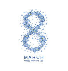 women day greeting card vector image