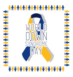 World down syndrome day card invitation event vector