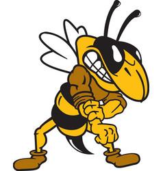 Yellow jacket logo mascot vector
