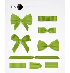 bow collection vector image vector image