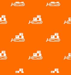 bulldozer pattern seamless vector image vector image