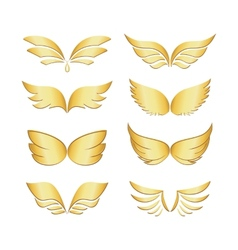golden wings vector image vector image
