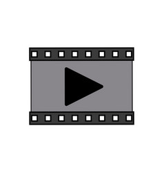 play video multimedia music web icon vector image