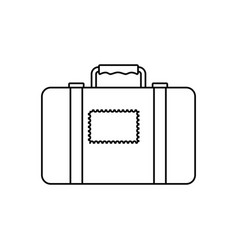 suitcase luggage equipment faceless vector image