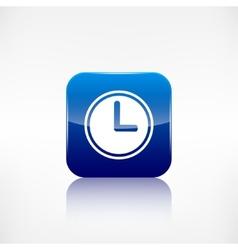 Clock web icon application button vector