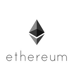 ethereum coin symbol logo vector image