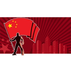 Flag Bearer China Background vector image vector image