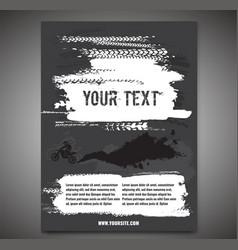 Grunge motorcross poster vector