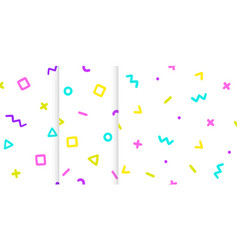 Set of three backgrounds with symbols vector