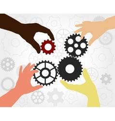 Teamwork gears - vector image