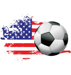 United States Soccer Grunge vector image vector image