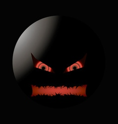 halloween evil face with a toothy maw lighting vector image