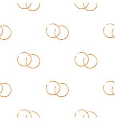 Hoop earrings icon in cartoon style isolated on vector