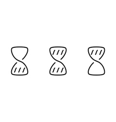 Hourglass wait set icons vector image