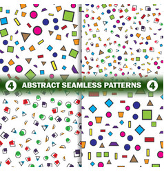 set of abstract seamless geometric pattern vector image vector image