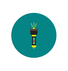 stylish icon in circle handle electric flashlight vector image