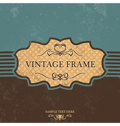 Vintage Label Design with Retro Background vector image vector image