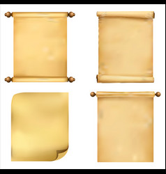 collection of ancient scrolls of papyrus vector image vector image