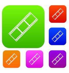 film strip set collection vector image