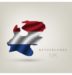 flag of Holland as a country vector image