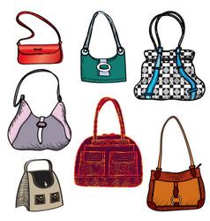 handbags fashion bag set female purse accessory vector image