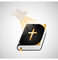 holy spirit bible icon design vector image