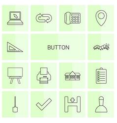 14 button icons vector