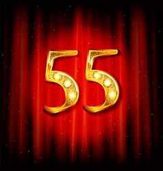 55 years anniversary celebration logotype vector