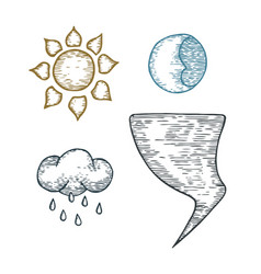 a set of weather vector image