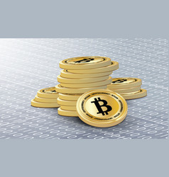 a stack of bitcoins vector image