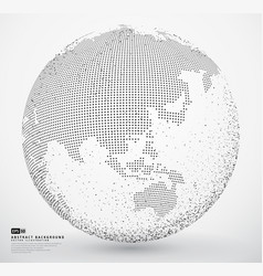 abstract dotted globe earth vector image