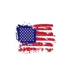 abstract hand drawn grunge texture usa flag vector image