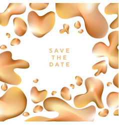 abstract shiny gold in assorted drop shapes vector image