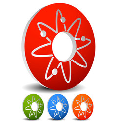 atom nucleus icon atom with orbiting electrons vector image