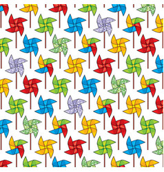 Background pattern with pinwheel vector