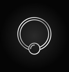 ball closure ring silver icon or element in vector image