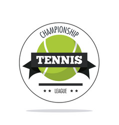 Ball of tennis sport design vector