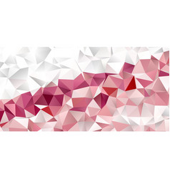 Banner template with a low poly geometric design vector