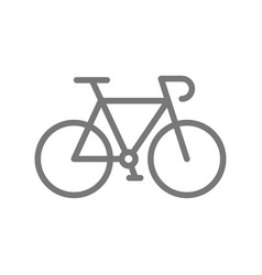 Bicycle and bike line icon vector