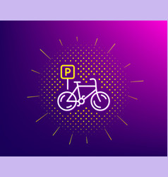 Bicycle parking line icon bike park sign vector